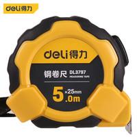 deli 得力 DL3797 包胶自锁钢卷尺 5m*25mm