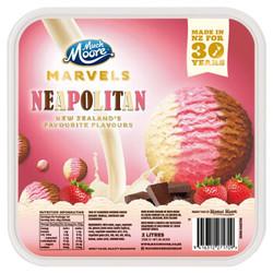 玛琪摩尔  冰淇淋  那不勒斯三色 2000ml *3件