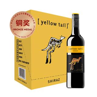 黄尾袋鼠(Yellow Tail)西拉红葡萄酒 750ml*6瓶 整箱装 澳大利亚进口