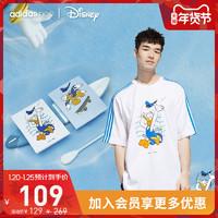 阿迪达斯官网adidas neo Disney唐老鸭男装运动短袖GJ5646
