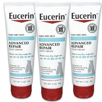 中亚Prime会员:Eucerin 优色林 干性皮肤修复护足霜 85g*3支