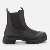 Ganni女士橡胶靴-黑色