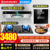 SAKURA/樱花8A01+B9209+C01烟灶消套装厨房三件套装