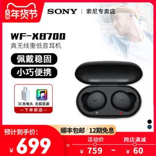 Sony/索尼 WF-XB700 真无线蓝牙耳机入耳式通话耳塞重低音立体声