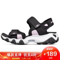 斯凯奇 SKECHERS 女子拖鞋 时尚休闲凉鞋 66666297/BLK 黑色 39码 US9码