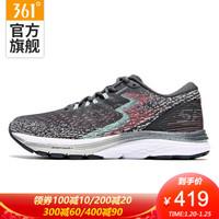 361度国际线Spire4Q弹跑步鞋女春季新款网面专业跑步运动鞋 乌木灰/海波蓝 39