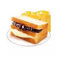 必买年货、88VIP:liangpinpuzi 良品铺子 紫米面包 555g + 蒙牛纯甄常温酸奶200g*24盒*2