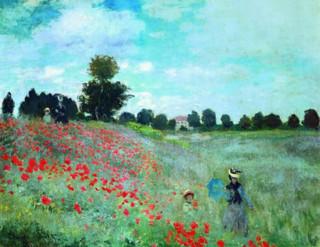 莫奈《野罂粟》60×75cm 装饰画 油画布