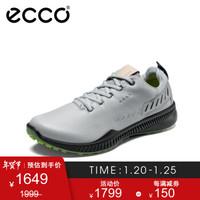 ECCO爱步运动鞋男冬季户外休闲鞋 高尔夫S动力151134 浅灰色15113401379 43