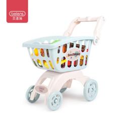贝恩施儿童玩具水果蔬菜购物手推车仿真过家家厨房玩具B8103-05蓝色(两款随机发货)新年礼物 *5件
