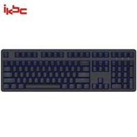 移动端:Ikbc R300 机械硬盘 黑色 青轴 108键 白色单背光