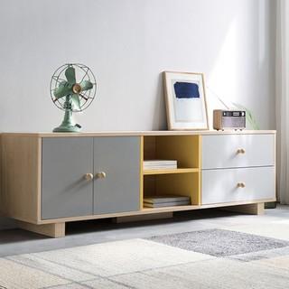 林氏木业 DJ3M 北欧简约小户型拼色电视柜