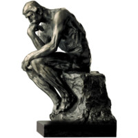 阿斯蒙迪青铜雕塑 艺术摆件 限量收藏 罗丹 思想者