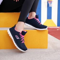 Skechers斯凯奇轻便透气网布休闲运动鞋女子软弹减震跑步鞋