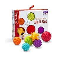 infantino 多纹理感知球 6个礼盒装