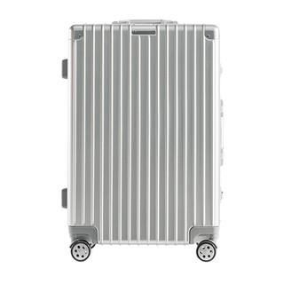 淘宝心选 竖纹系列 铝镁合金框行李箱 20英寸