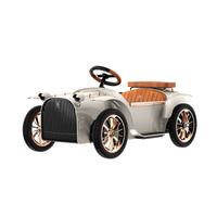 D.THRONE 帝仕伦高端奢华儿童亲子电动车童车驾驶多功能电动车S款 象牙-白色