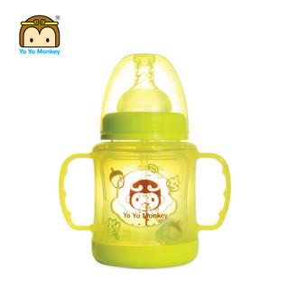 香港优优马骝婴儿宽口径玻璃奶瓶宝宝仿母乳质感奶嘴奶瓶防爆防摔