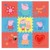 小猪佩奇(Peppa Pig)爬行垫婴儿 拼图拼接垫防滑爬行毯泡沫地垫 30*30*1cm 9片带边条红心新年礼物 儿童 *2件