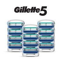 中亚Prime会员:Gillette 吉列 锋隐5 剃须刀头 12件装 *2件