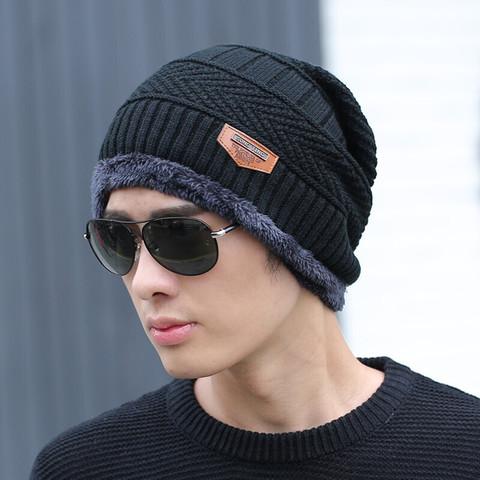 琰怿2020冬天围脖帽子加绒保暖骑车毛线帽针织帽户外男士套头情侣帽品