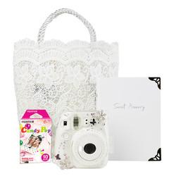 富士mini9拍立得相机含相纸一次成像纯臻白礼盒装