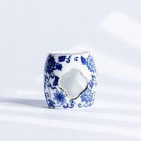 xigu 熹谷 青花瓷盖置茶壶盖托