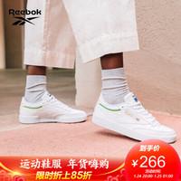 Reebok锐步 运动经典CLUB C 85女子低帮经典鞋EG5984 EG5984_白色/绿色/黄色 36