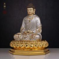 京铜 纯铜披巾释迦牟尼成道佛像 153公分高