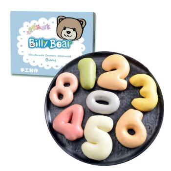 Billy Bear 无添加儿童卡通馒头 数字形 160g 果蔬榨汁手工制作 无防腐剂 宝宝早餐 面食 速冻馒头 *8件