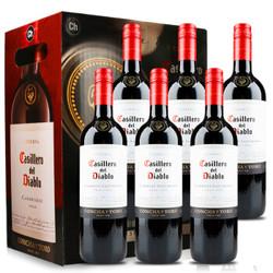 Casillero del Diablo 红魔鬼 卡本妮苏维翁/赤霞珠红葡萄酒 750ml*6瓶  *2件