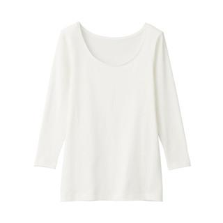 无印良品 MUJI 女式 使用了棉的冬季内衣 U领八分袖T恤 *6件