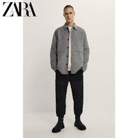 ZARA男装 拼接软质修身裤 05862457800