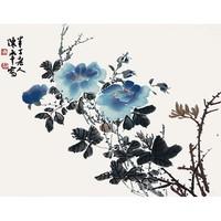 荣宝斋木版水印 国画 客厅装饰壁画 陈半丁 月季 32*44cm画片