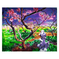 周春芽限量版画《桃花始盛开》正品保证 亲笔签名100版 刘嘉玲同款