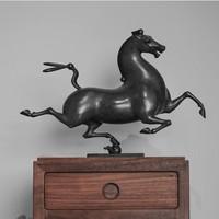 限量雕塑摆件 桌面艺术品 青铜雕塑 办公室摆件 周游 春风之一
