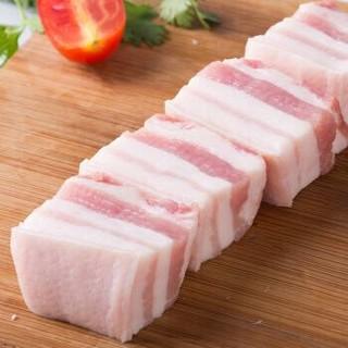 中润长江 猪五花肉块500g 带皮五花肉红烧肉食材 国产生鲜 *5件+凑单品