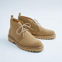 再降价:ZARA 15019002102 男士反绒皮靴