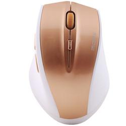 摩天手(Mofii) G52 无线鼠标 光学静音时尚 家用办公台式笔记本鼠标 土豪金 *2件