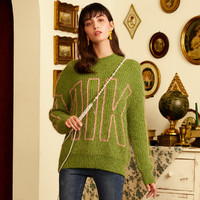 米可芭纳 J04TP8040G42 女士慵懒风提花针织毛衣