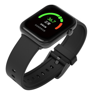 ticwatch CXB02 智能手表 43.2mm 黑色 硅胶表带