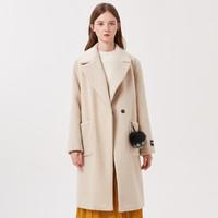 冬装外套宽松单面呢大衣女