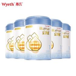 惠氏启赋(Wyeth illuma)亲和人体婴幼儿配方奶粉 1段 900g*6罐