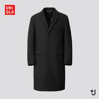 UNIQLO 优衣库 +J 432642 男士羊毛混纺大衣