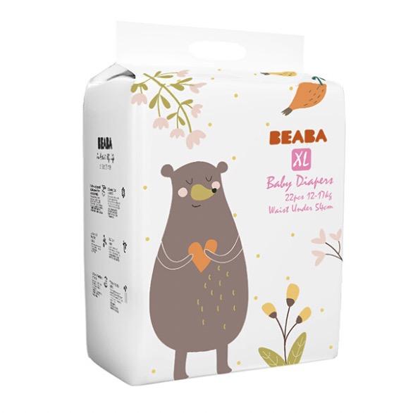 BÉABA 芘亚芭 碧芭宝贝 疯狂动物迷婴儿纸尿裤 XL22片