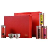 京东PLUS会员:煮者 茶叶礼盒装 年货礼盒 四拼4筒2杯装 265g