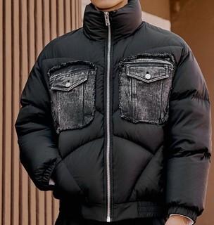 GXG x CHENPENG合作款 男士短款羽绒服 10B111010A 黑色 XXL