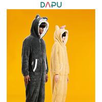 DAPU 大朴 冬季柯基保暖连帽连体睡衣套装