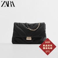 ZARA 16395615040 女士绗缝链条百搭斜挎链条包