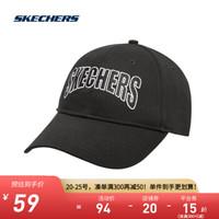 Skechers斯凯奇官方男女同款字母刺绣棒球帽运动休闲帽